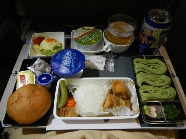 シンガポールツアー機内(帰り) (9)