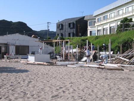 海の家解体
