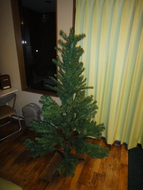 クリスマスツリー 飾りなし