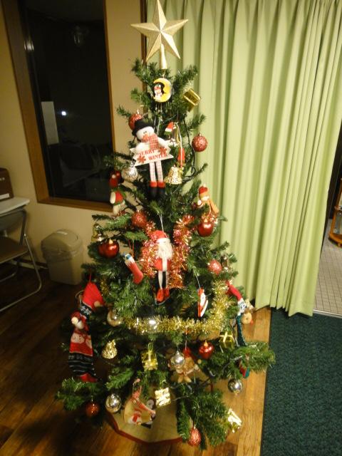 クリスマスツリー 装飾済み