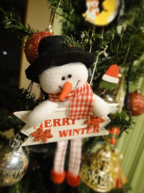クリスマスツリー 雪だるま