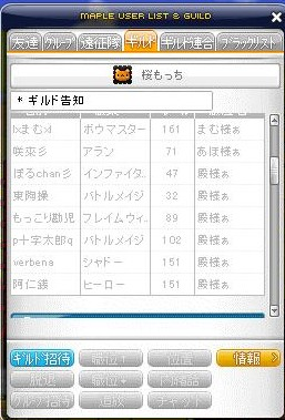 メンバー表