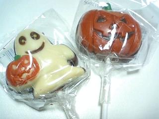 ハロウィン ロリポップチョコレート(ゴースト・パンプキン)