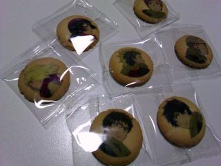 アニメイトカフェ 青の祓魔師 キャラプリントクッキー¥680a