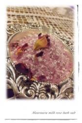 milk rose bath salt