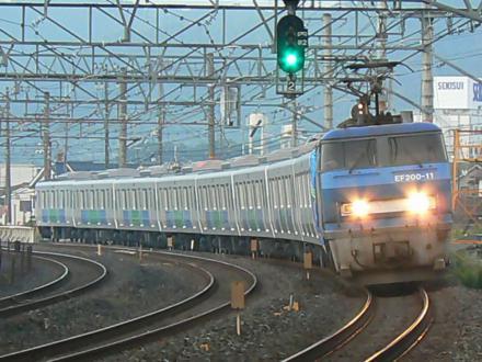 西武30000系 甲種 EF200-11 撮影地:島本~山崎