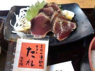 カツオのたたきタレ定食