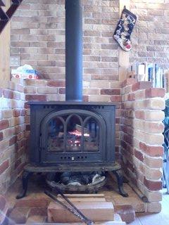 いいなぁ~~憧れの暖炉