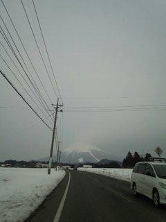 大山もうっすら浮かんでます