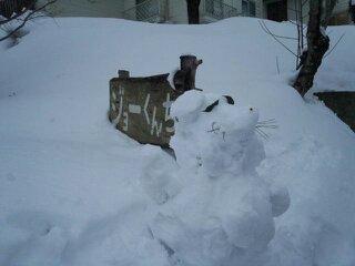 犬の雪だるま♪