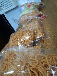 府中焼き★辛い赤麺★