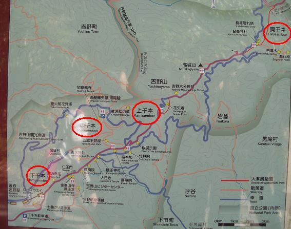 17 吉野の地図