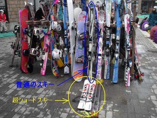 4 2種類の長さのスキー