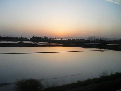 21 琵琶湖の夕日