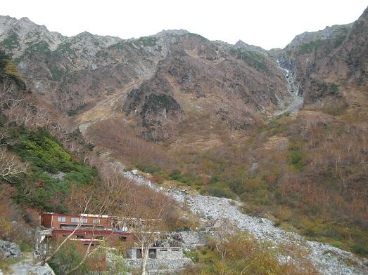 20 岳沢小屋と前穂高岳
