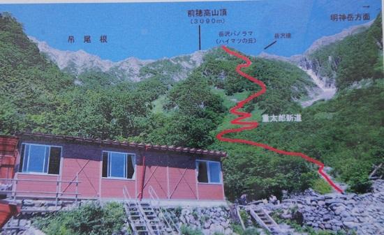 21 岳沢小屋と前穂高岳登山道