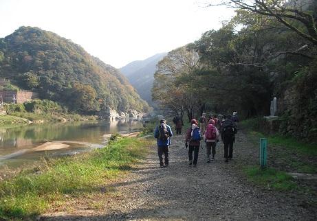 4 木津川沿いの東海自然歩道