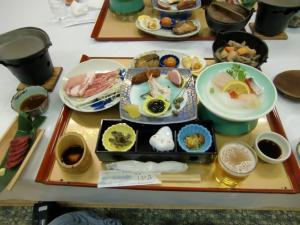 紫尾温泉夕食