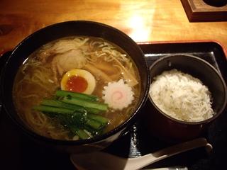 季の庭 地鶏塩そば+シラスご飯