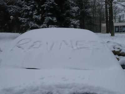 車に落書き
