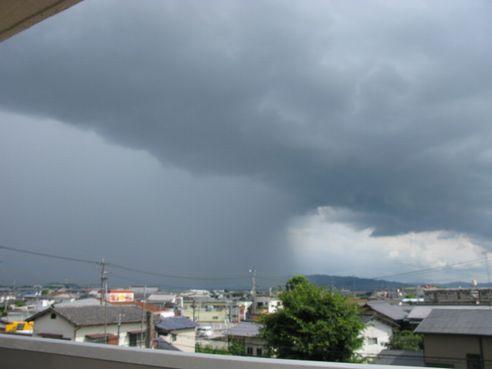 雨がすごそうw