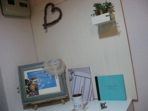 玄関に飾り用の壁w