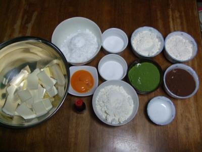 ストライプクッキー作り・材料