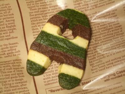ストライプクッキー作り