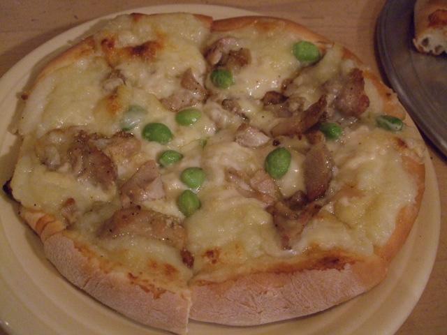 ふわふわマッシュポテトと熊本県産地どりのクリームソースピザ