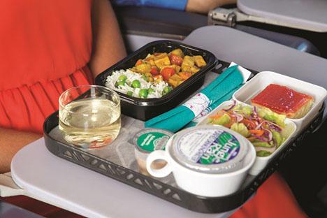 ハワイアン航空 機内食カレー
