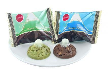 「富士山ミニチュアクランチチョコレート抹茶&ミルク」