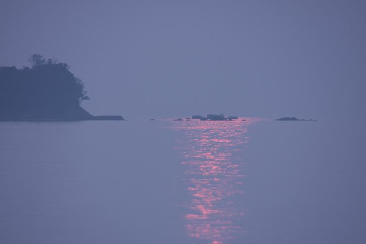 丸山海浜パークからの夕陽