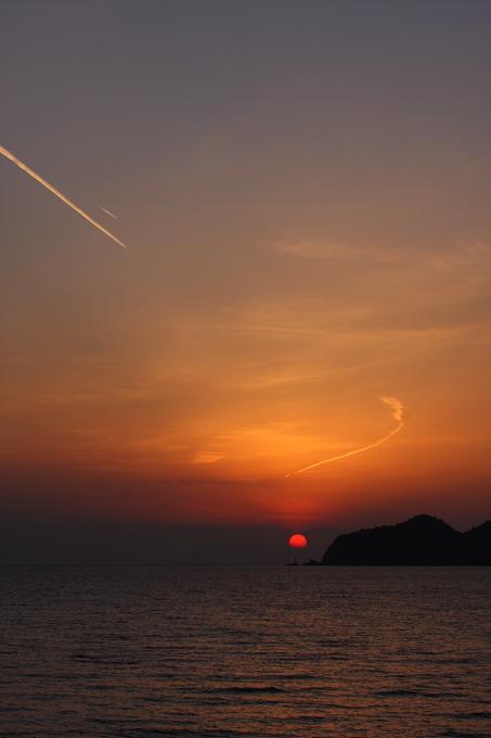 室積海岸の夕陽