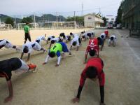 10.7.23 新居浜東高校サッカー部のクールダウン2