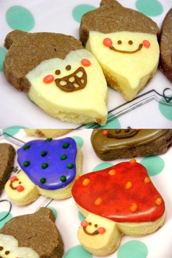 『Baby King Kitchen(ベイビー キング キッチン)』のどんぐりときのこのクッキー