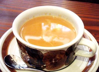 『old cafe ときの木』のロイヤルミルクティー