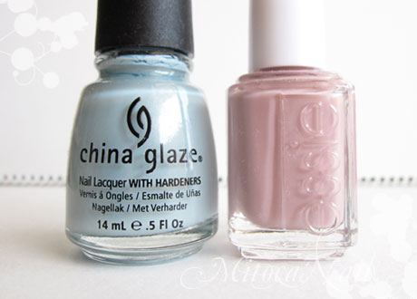 China Glaze#80972 Sea Spray(シースプレー)/essie#764 Lady Like(レディーライク)