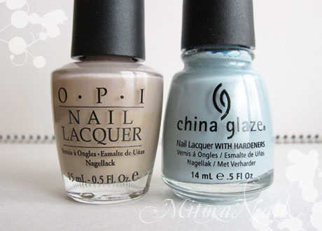 OPI#F16 Tickle My France-y(ティクル・マイ・フランセイ)/China Glaze#80972 Sea Spray(シースプレー)