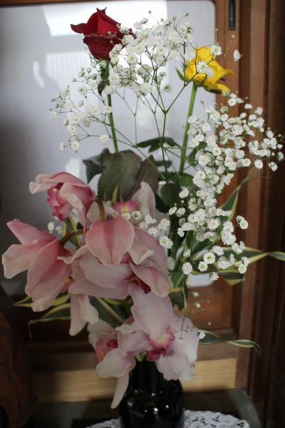 戴いたきれいな花