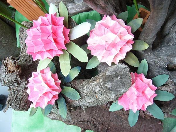 折り紙石楠花