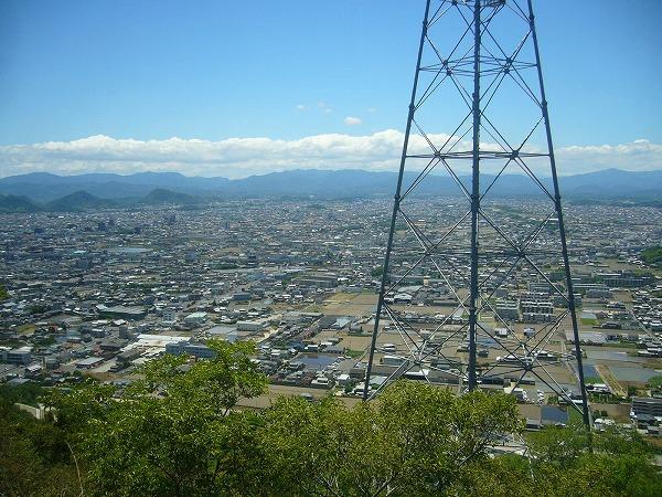 山から見た高松市
