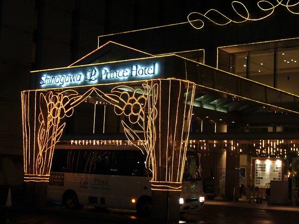 品川のホテル前バス