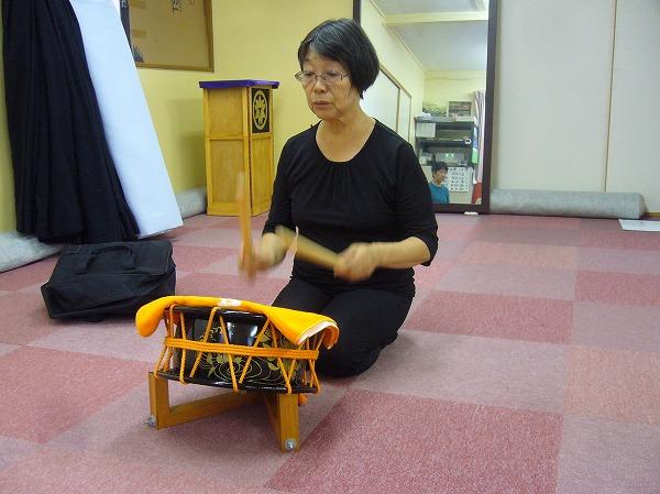 太鼓の練習も1
