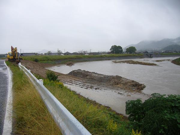 高瀬川の工事台風27号水増
