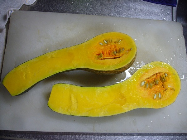 ヒョウタンかぼちゃ中身は25.11