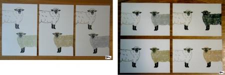 羊 2匹(タテ ヨコ)サイン