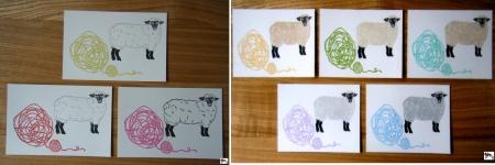 羊 毛糸(ヨコ)-1~8 サイン