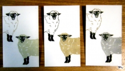 ぽち袋 羊2匹 サイン