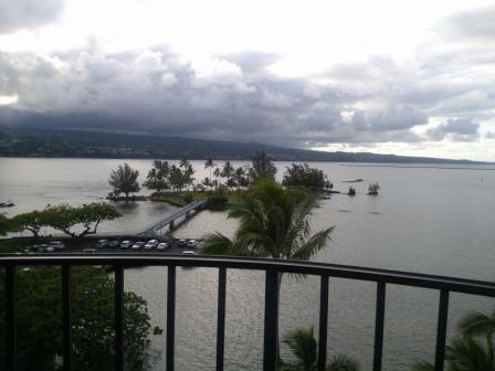 ヒロハワイアンホテル8F海側からの眺め