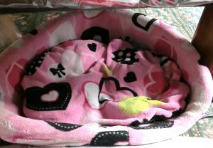 足元のベッド
